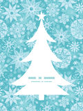 Copo de nieve decorativo de la Navidad de la helada del vector Imagen de archivo libre de regalías