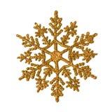 Copo de nieve del brillo del oro Foto de archivo libre de regalías