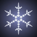 Copo de nieve del diamante Fotos de archivo libres de regalías