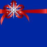 Copo de nieve del diamante con el arco Imagen de archivo