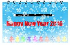 Copo de nieve del fondo de la Feliz Año Nuevo ilustración del vector