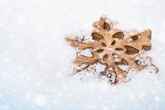 Copo de nieve del fondo de la Navidad Fotos de archivo
