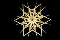 Copo de nieve del oro del Grunge Fotografía de archivo libre de regalías