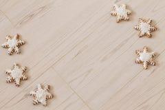 Copo de nieve del pan de jengibre Foto de archivo libre de regalías