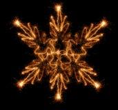 Copo de nieve del Sparkler Imágenes de archivo libres de regalías