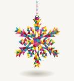 Copo de nieve del triángulo de los días de fiesta de la Navidad Imagen de archivo