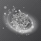 Copo de nieve del vector con textura que brilla, fondo para el invierno y tema de la Navidad Efecto de la helada de la nieve sobr libre illustration