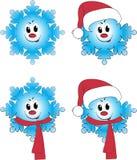 copo de nieve 4 en interpreta de la animación Foto de archivo libre de regalías