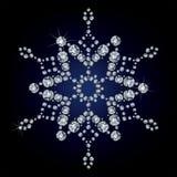 Copo de nieve hecho de diamantes stock de ilustración