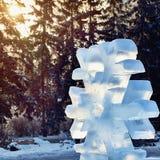 Copo de nieve hecho del hielo Imágenes de archivo libres de regalías