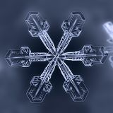 Copo de nieve natural del invierno fotos de archivo libres de regalías
