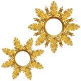Copo de nieve de oro Imágenes de archivo libres de regalías