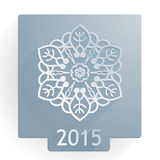 Copo de nieve plano 2015 Fotos de archivo