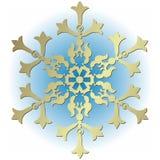 Copo de nieve plateado de la vendimia ilustración del vector