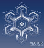 Copo de nieve realista del vector Imágenes de archivo libres de regalías