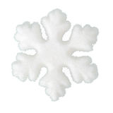 Copo de nieve suave como nieve aislada en el fondo blanco Fotos de archivo