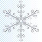 Copo de nieve transparente Translúcido solamente en fichero del vector Fotos de archivo
