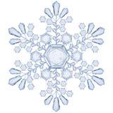 Copo de nieve transparente Translúcido solamente en fichero del vector Fotografía de archivo