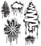 Copo de nieve y nube del árbol de Grunge Fotografía de archivo libre de regalías