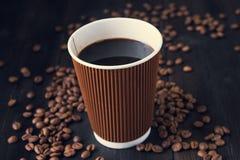 Copo de papel do café quente fotos de stock royalty free