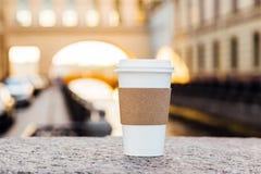 Copo de papel do café vazio Fotos de Stock Royalty Free