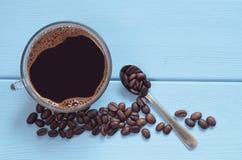 copo de vidro do café quente Fotografia de Stock Royalty Free