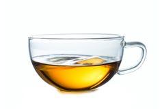 Copo de vidro do chá preto Isolado no branco Fotos de Stock