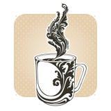 Copo decorativo decorativo com café ou chá Fotografia de Stock Royalty Free