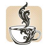 Copo decorativo decorativo com café ou chá Fotografia de Stock