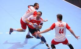 COPO DINAMO BUCARESTE DO EHF DOS HOMENS - BM DE FRAIKIN GRANOLLERS Foto de Stock