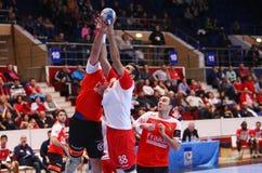 COPO DINAMO BUCARESTE DO EHF DOS HOMENS - BM DE FRAIKIN GRANOLLERS Fotos de Stock