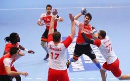 COPO DINAMO BUCARESTE DO EHF DOS HOMENS - BM DE FRAIKIN GRANOLLERS Fotografia de Stock Royalty Free