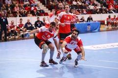 COPO DINAMO BUCARESTE DO EHF DOS HOMENS - BM DE FRAIKIN GRANOLLERS Imagem de Stock