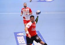COPO DINAMO BUCARESTE DO EHF DOS HOMENS - BM DE FRAIKIN GRANOLLERS Foto de Stock Royalty Free
