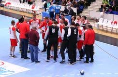 Copo Dinamo Bucareste do EHF dos homens - SC Magdeburgo Imagens de Stock Royalty Free