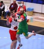 Copo Dinamo Bucareste do EHF dos homens - SC Magdeburgo Fotos de Stock Royalty Free