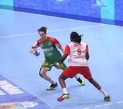 Copo Dinamo Bucareste do EHF dos homens - SC Magdeburgo Fotos de Stock