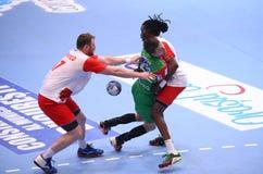 Copo Dinamo Bucareste do EHF dos homens - SC Magdeburgo Fotografia de Stock