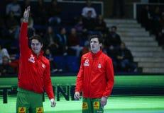 Copo Dinamo Bucareste do EHF dos homens - SC Magdeburgo Imagem de Stock Royalty Free