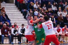 Copo Dinamo Bucareste do EHF dos homens - SC Magdeburgo Imagem de Stock