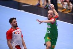 Copo Dinamo Bucareste do EHF dos homens - SC Magdeburgo Foto de Stock Royalty Free