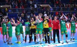 Copo Dinamo Bucareste do EHF dos homens - SC Magdeburgo Fotografia de Stock Royalty Free