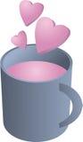 Copo do amor ilustração stock