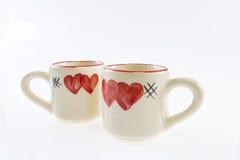 Copo do amor, com o coração da pintura dado forma Foto de Stock Royalty Free