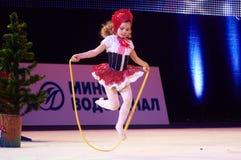 'Copo do bebê - as competições das crianças do banco de BSB' na ginástica, o 5 de dezembro de 2015 em Minsk, Bielorrússia Foto de Stock