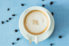 Copo do café do latte Fotografia de Stock Royalty Free