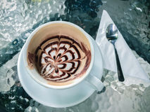 Copo do café do mocha em New York City da baixa Foto de Stock Royalty Free