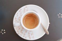 Copo do café italiano imagem de stock