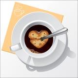 Copo do café preto Imagem de Stock Royalty Free