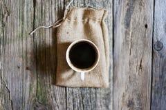 Copo do café preto de acima imagens de stock royalty free